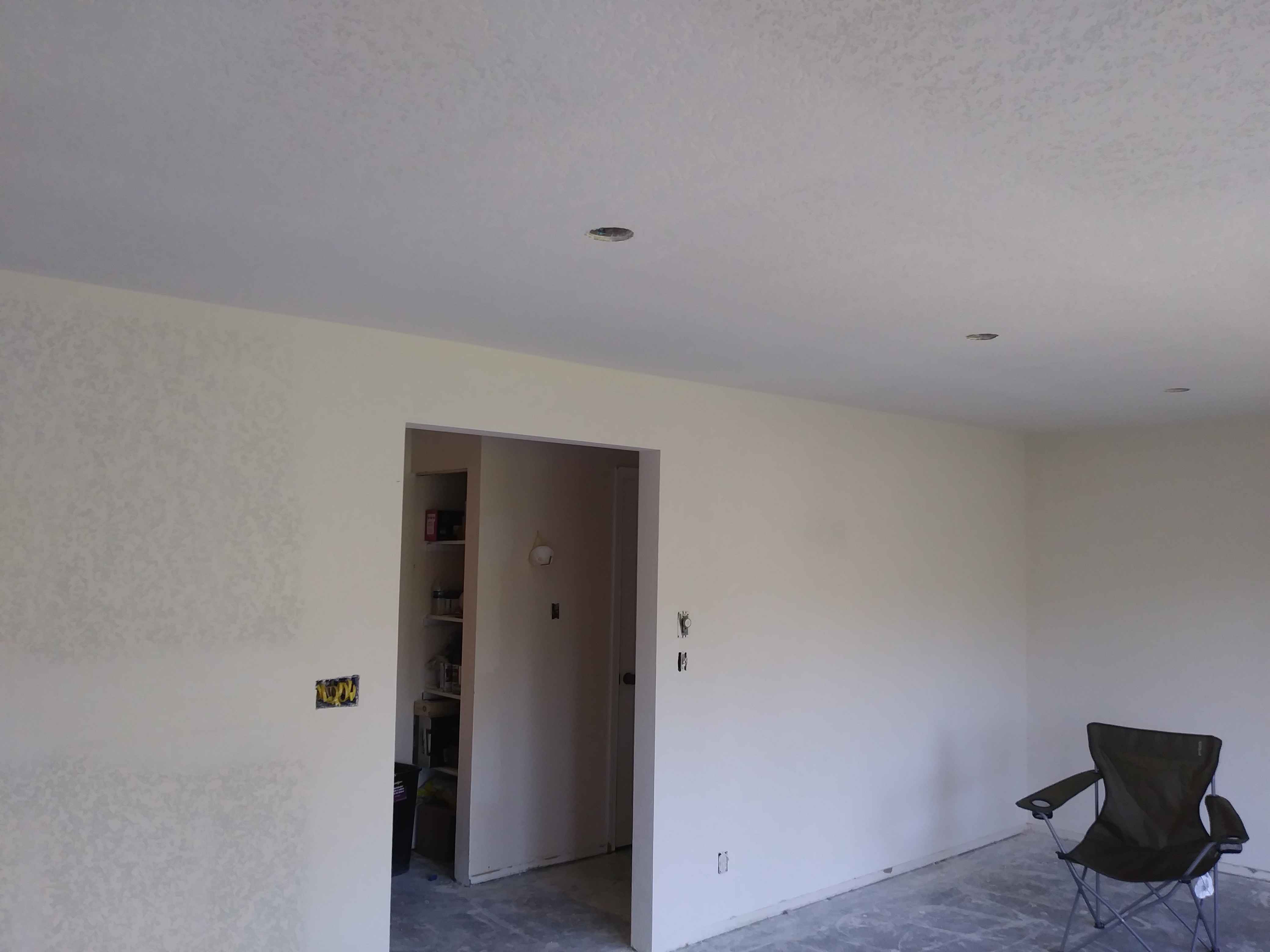 Interior walls and doorway drywall finished