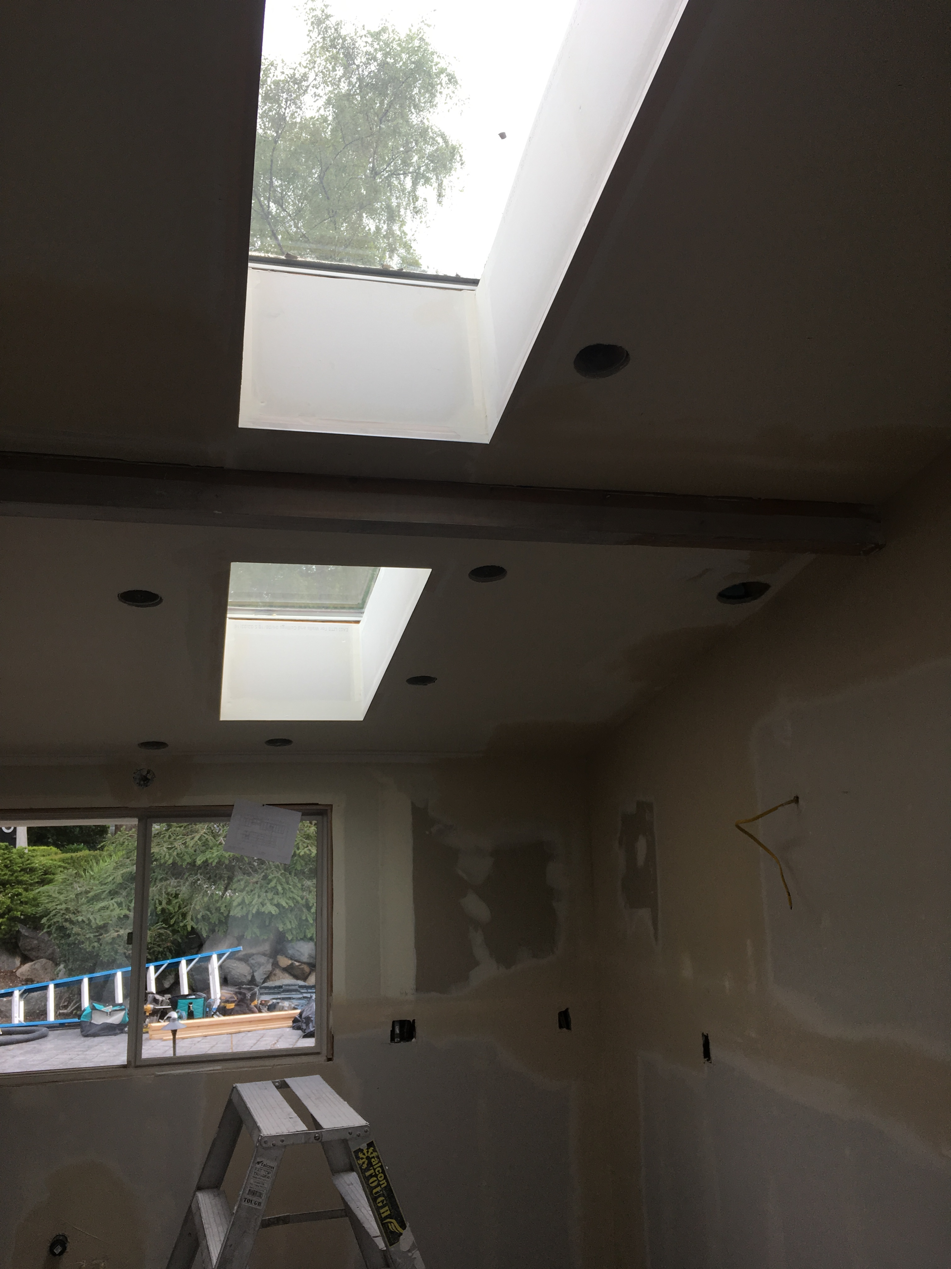 Kitchen skylight as part of the remodel