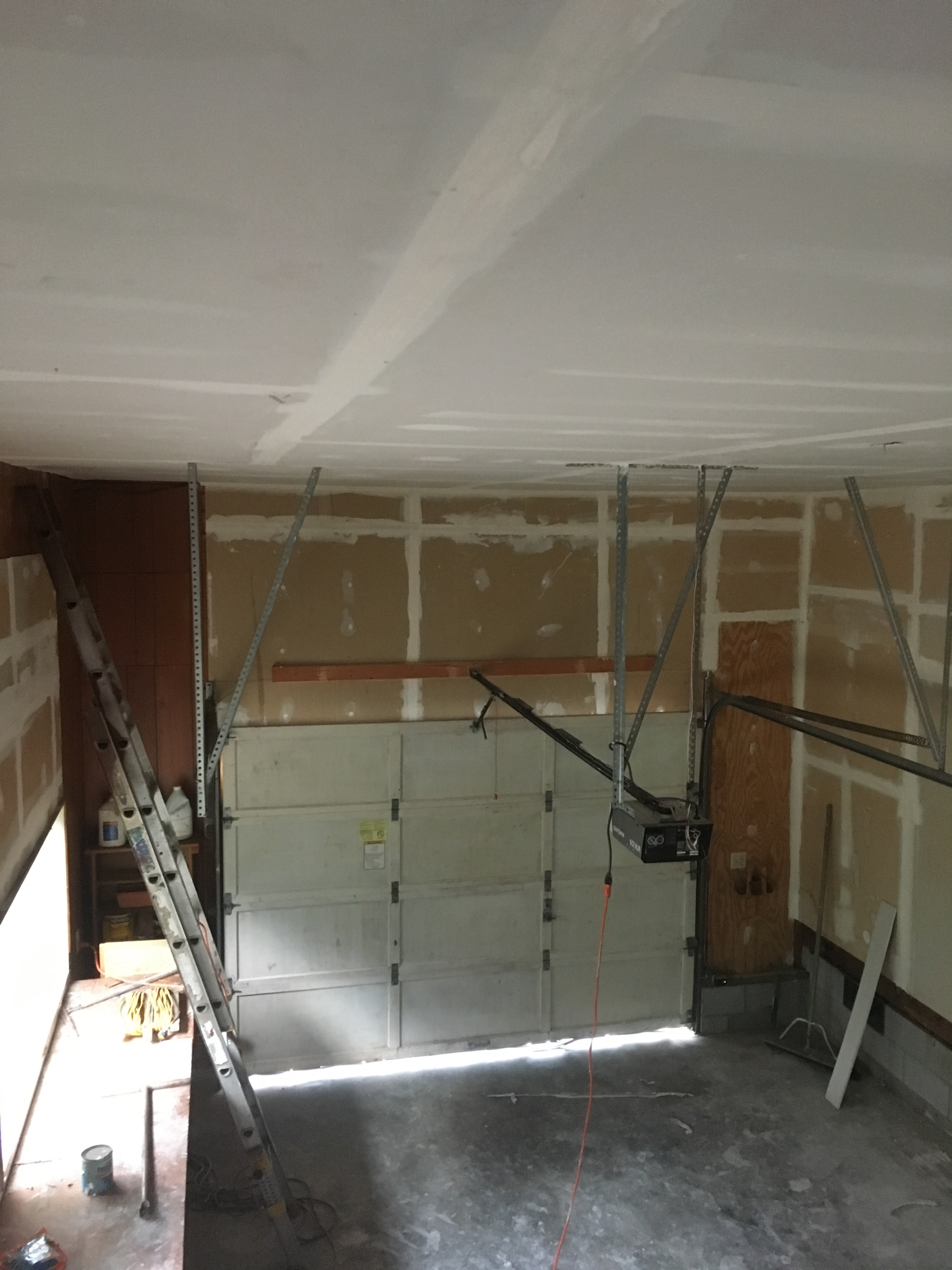 New ceiling hung in old garage