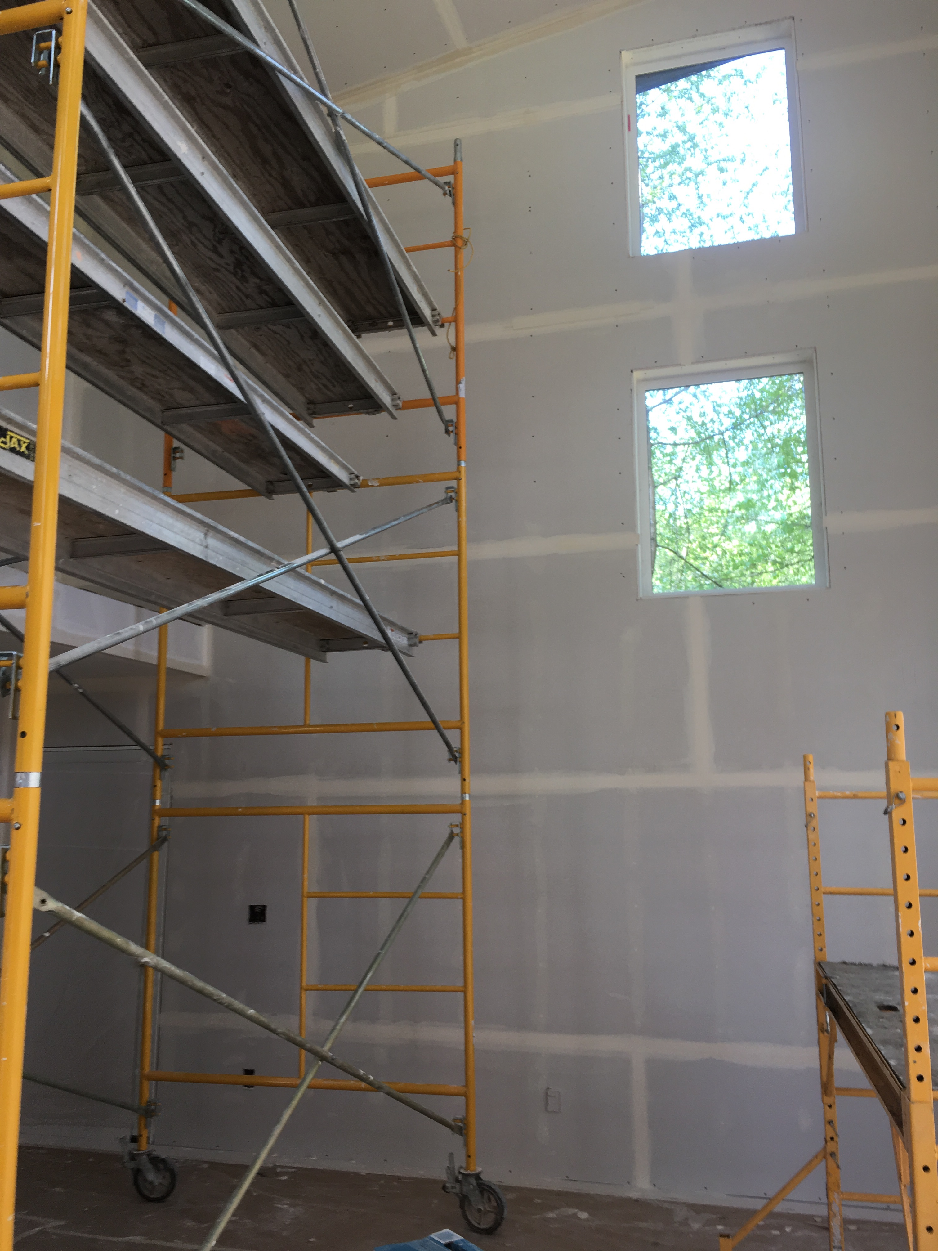Scaffolding available when required by project